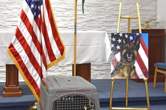 Memorial held for military working dog Diana