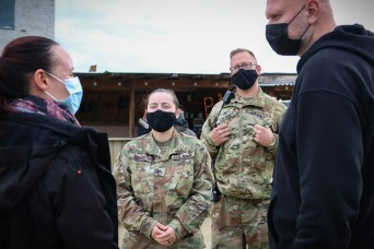 Iowa Soldier leads liaison team during training in Germany