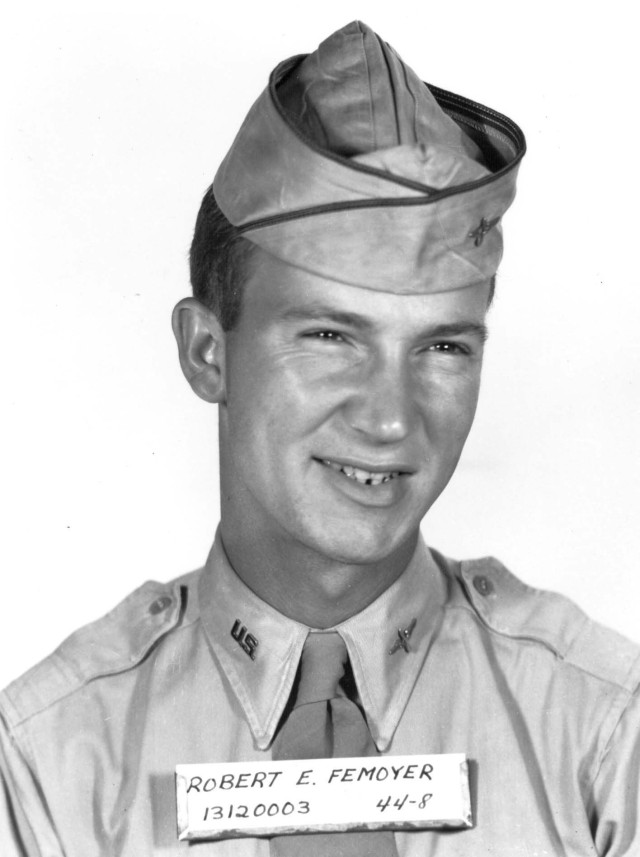 Army 2nd Lt. Robert Femoyer earned the Medal of Honor as an Army Air Corps navigator during World War II.