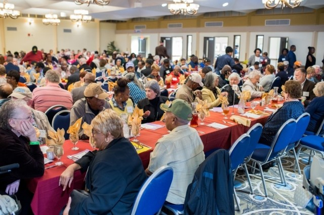 FORT BENNING, Ga. – In a Nov. 2018 photo, military retirees from around the Fort Benning region attend annual Retiree Appreciation Day at the Benning Club here. Fort Benning will hold its 38th Retiree Appreciation Day Nov. 6 but because of the COVID-19 pandemic it will be presented online. The event affords a chance to give retirees updates on services and policies of importance to them. Among scheduled speakers for this year's event are two high-level civilian officials of the Army, as well as the commanding general of the U.S. Army Maneuver Center of Excellence and Fort Benning. Fort Benning provides services to more than 46,000 retirees living mainly in parts of Georgia and Alabama.(U.S. Army photo by Patrick Albright, Maneuver Center of Excellence, Fort Benning Public Affairs)