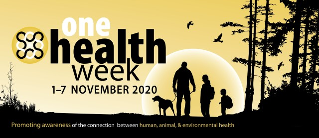 Observed during the first week of November, One Health Week strives to raise awareness around the world to highlight the need for comprehensive public health using the One Health approach. (Courtesy Graphic from U.S. Army Public Health Center)