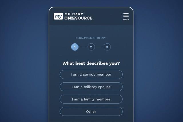 Military OneSource app.