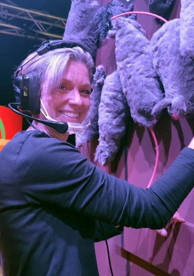 KMC Onstage volunteer Beth Dougherty spent ten weeks as the stage manager for the theater's most recent production, Disaster.