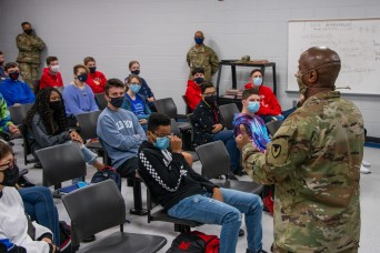 USASAC's CSM Rice provides advice, encouragement for JROTC students