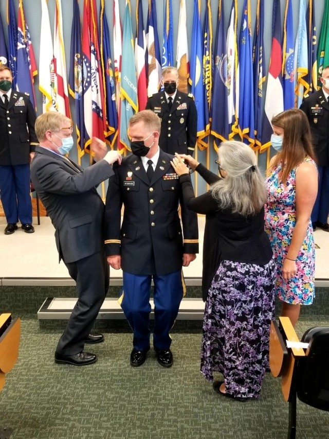 Warrant Officer Michael McMahan, an Army Reserve Soldier assigned to the 94th Training Division – Force Sustainment (TD-FS), officially joined the warrant officer ranks after completing Warrant Officer Candidate School (WOCS) and participating in a graduation and pinning ceremony held at Fort Pickett, Virginia, this year.