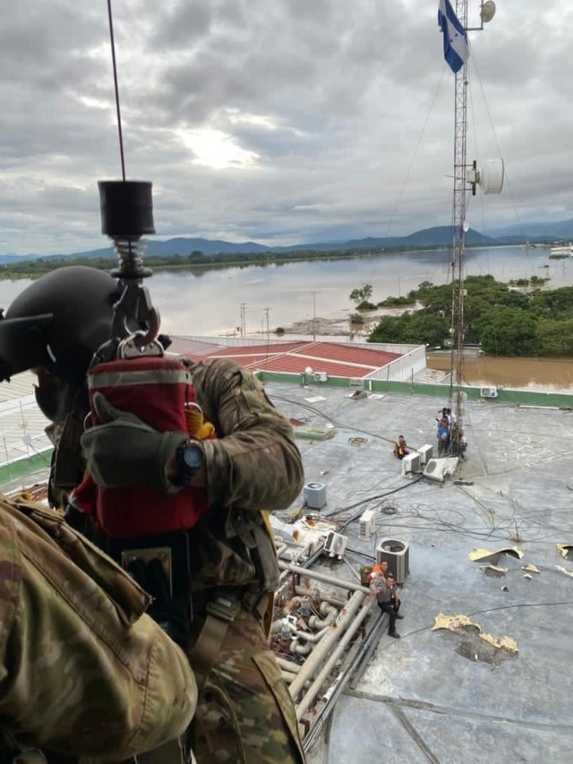 Army efforts save lives following historic hurricane