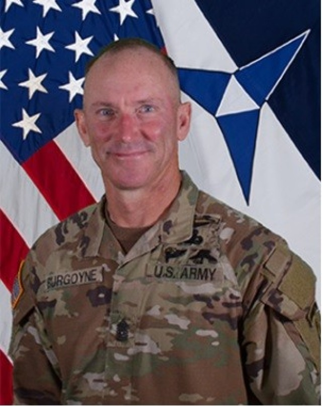 Command Sgt. Maj. Cliff Burgoyne