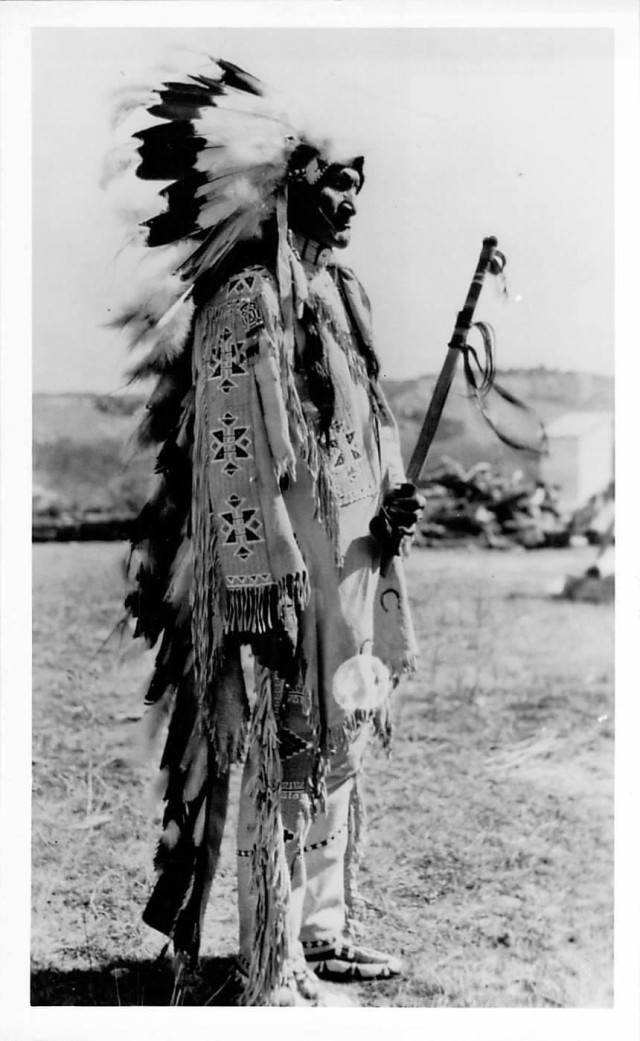 SSG Kari Brafford's great-grandfather, Chief Stephen Standing Bear. He was an Oglala Sioux tribe Chief as well as a famous actor in the Wild West Buffalo Bill show. (Photo courtesy of SSG Kari Brafford)