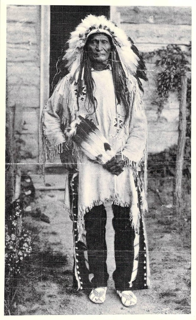 SSG Brafford's great-grandfather, Chief Stephen Standing Bear. He was an Oglala Sioux tribe Chief as well as a famous actor in the Wild West Buffalo Bill show. (Photo courtesy of SSG Kari Brafford)