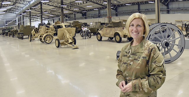 Brig. Gen. Michelle M.T. Letcher, 42nd Chief of Ordnance and Ord. School commandant, poses at the Ord. Training Support Facility, Fort Lee. She is only the third woman to hold the position in the 208-year history of the Ord. Corps.
