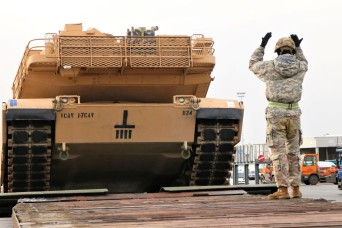 7th Atlantic Resolve armored rotation equipment arrives in Antwerp, Belgium