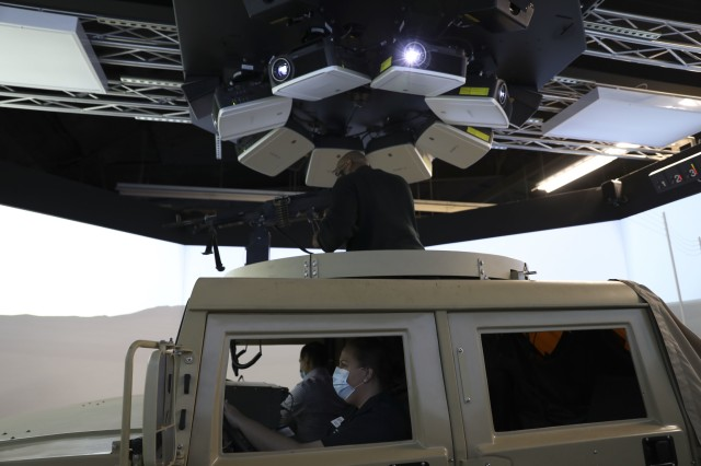 The 1st Cavalry Division hosted 17 personnel from Leadership Killeen, at Fort Hood, 18 November, 2020. Participants tried out the Close Combat Tactical Trainer (CCTT).