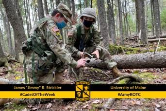 """Cadet of the Week: James """"Jimmy"""" R. Strickler"""