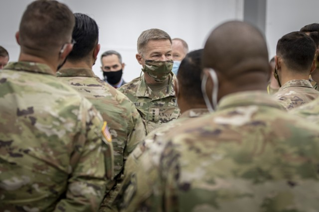 Chief of Staff of the Army Gen. James C. McConville visits Soldier touchpoint