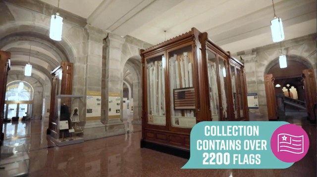 Virtual tour highlights historic N.Y. battle flag collection
