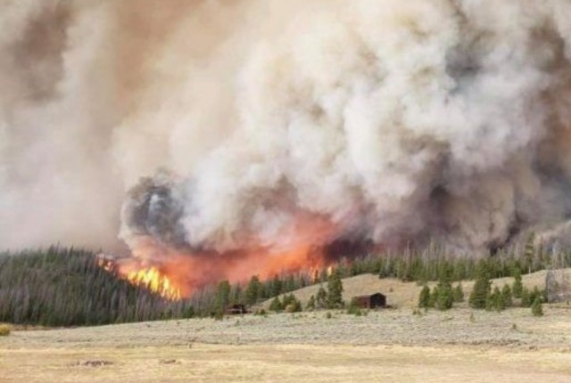 Mullen Fire, West of Laramie, WY