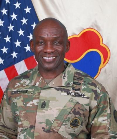 Command Sgt. Maj. LaDerek Green