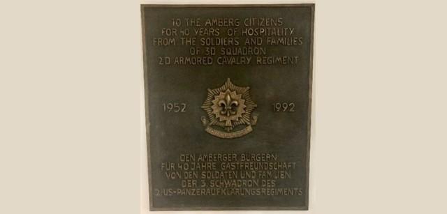 Plaque of Appreciation to Amberg