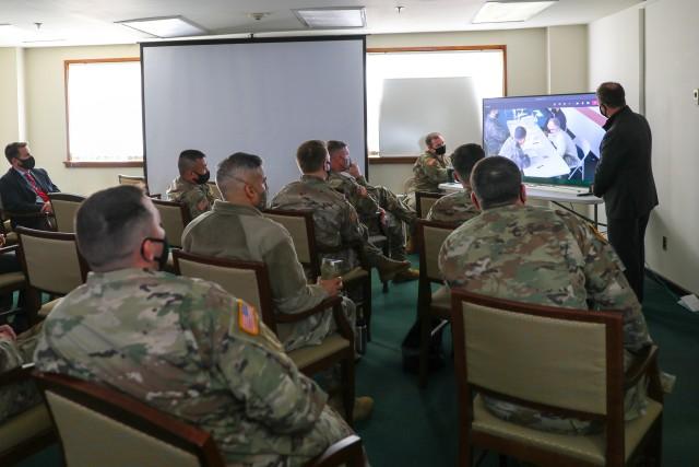 Senior Leaders View Mock Interrogation