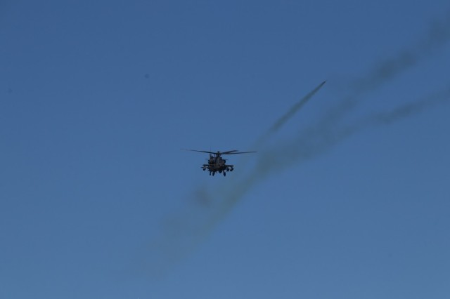AH-64 Apache Helicopter Engages Targets at JRTC 21-2