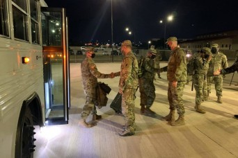 Army South Soldiers return from humanitarian assistance deployment in Central America due to Hurricanes Eta and Iota
