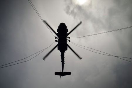Soldiers participate in an air assault course at Camp Blanding in Starke, Fla., July 23, 2020.