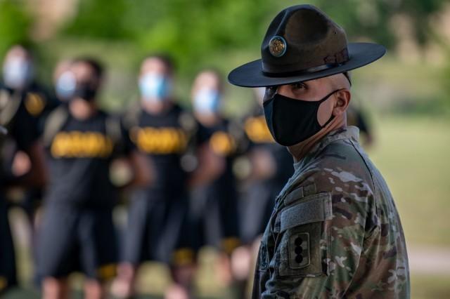Masked drill sergeant