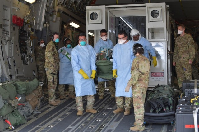 COVID-19 aeromedical evacuations