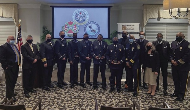 Fort Belvoir's outstanding police, security guards and firefighters were honored at the 13th annual Mount Vernon-Lee Police-Fire Tribute at Belle Haven Country