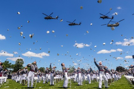 The U.S. Military Academy at West Point held its graduation and commissioning ceremony for the Class of 2020, June 13, 2020 at West Point, N.Y.