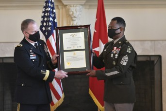 Army G-4 sergeant major concludes 33-year career