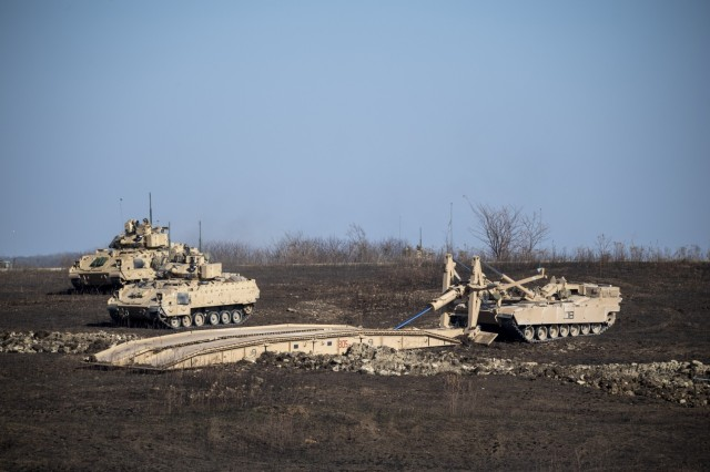 1st Infantry Division combined-arms Soldiers test Joint Assault Bridge