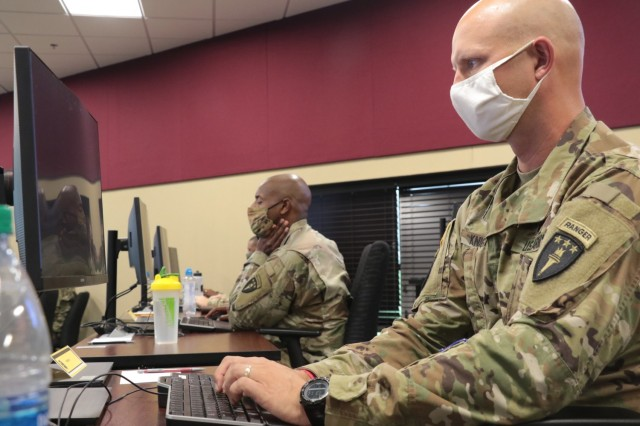 Candidates from Cohort 1 of the Colonels Command Assessment Program begin the psychometric test on day one of the five day assessment program on Fort Knox, Kentucky, September 11, 2020.  CCAP expands the Army's understanding of each officer's talents by including more relevant information to help the Army make more informed decisions about who is selected to command. (U.S. Army Photo by Staff Sgt. Daniel Schroeder, Army Talent Management Task Force)