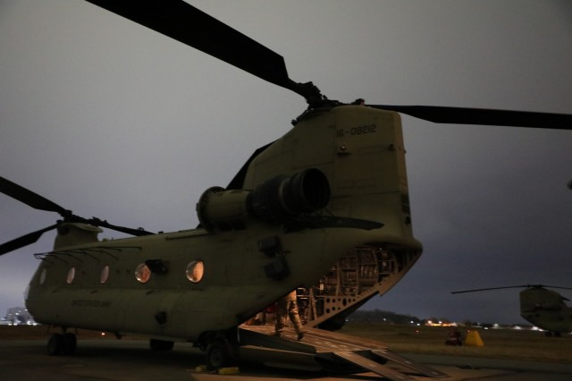 CH-47 as trasnportation