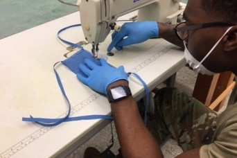 Sew what? Riggers turn efforts to masks