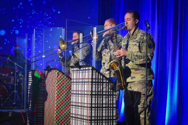 U.S. Army Training and Doctrine Command Band members rock out for their virtual holiday show held on Dec. 10, 2020.