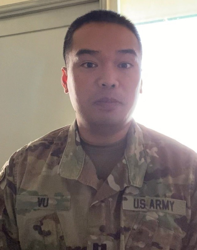 Capt. Thomas Vu, Assistant Professor of Military Science and Officer in Charge of Training for the NMC ROTC program, came up with plan to train MNC's ROTC Cadets in person earlier this year – by going into quarantine for them.