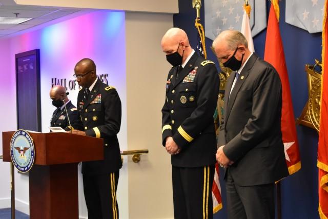 Maj. Gen. Thoms ceremony: Benediction by Deputy Chief of Chaplains  Brig. Gen. William Green