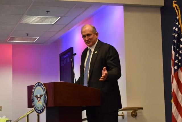 Maj. Gen. Thoms promotion ceremony - Gen. (Retired) Robert Brown makes remarks