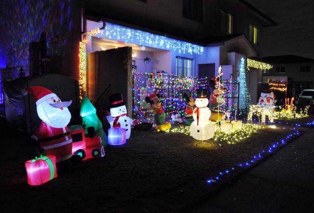 The back yard of Tearance Stewart at Sagamihara Family Housing Area, Japan, Dec. 8.