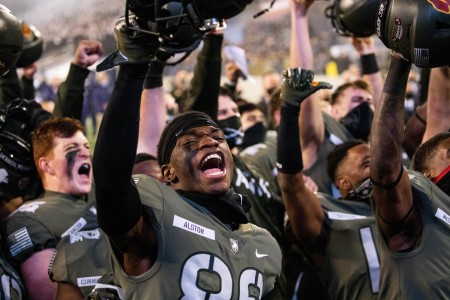 The Army football team wins on Dec. 12, 2020. The final score was 15-0 with Army shutting out Navy for the first time since 1969.