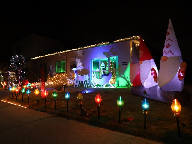 Cynthia and Doug Batchelor decorated the inside and outside of their home extensively for the holidays at Sagamihara Family Housing Area, Japan, Dec. 13.
