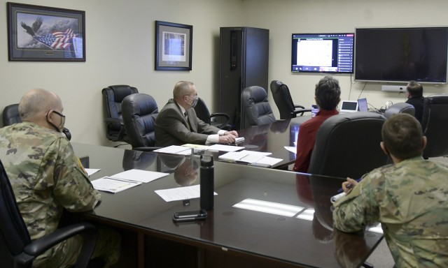 Garrison Commander Col. Charles Bell and key directors  - Installation Planning Board (IPB) - provide an annual brief on the garrison's proposed Integrated Priorities List (IPL) and projects to receive guidance and approval from higher commands. The annual IPL is part of the garrison's Integrated Strategic Sustainable Program (ISSP) to guide the garrison's efforts to allocate funding and resources, and ensure their priorities is nested with  higher commands goals. IMCOM-Readiness Director Brenda McCullough, and Maj. Gen. Alberto Rosende, U.S. Army Reserve 63rd Readiness Commanding General and the garrison's senior commander, commended Bell and his team on their steadfast commitment to the garrison, troop readiness, and continued efforts to secure projects with limited funding.