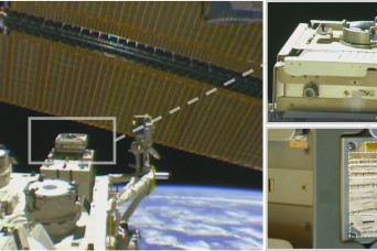 Army-funded smart fabric collects space dust on International Space Station