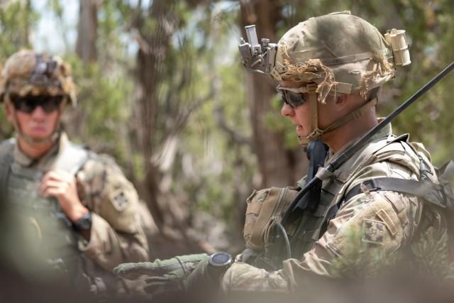 Infantry squad situational training exercise
