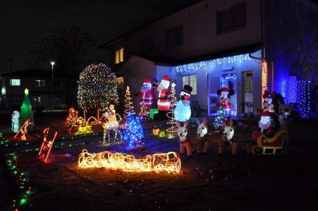 The front yard of Tearance Stewart at Sagamihara Family Housing Area, Japan, Dec. 8.