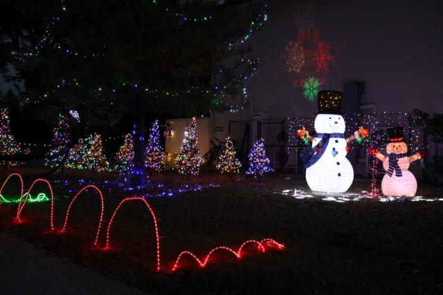 The front yard of Parish Jones at Sagamihara Family Housing Area, Japan, Dec. 13.