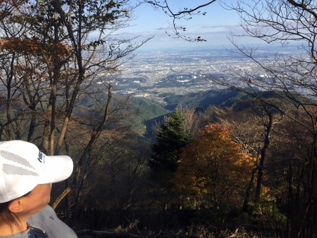 Bobby and Kim Rakes take in the view after hiking for 90 minutes on Mount Oyama, Japan, Nov. 11.