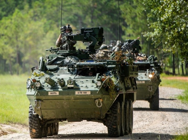 Army preps Strykers for laser combat shoot-off