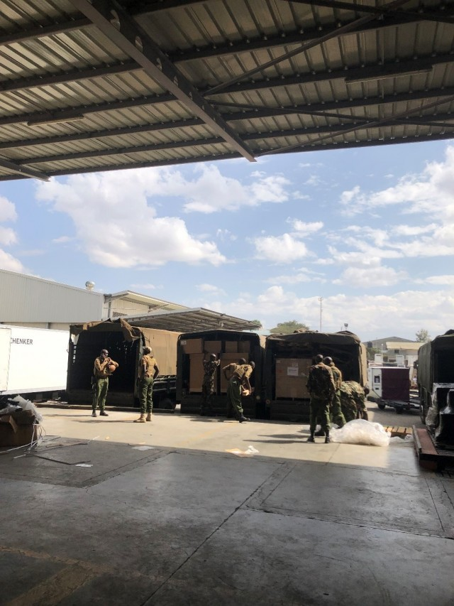 Delivery of BPC 333 program ammunition to Kenya.